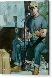 Acrylic Print featuring the painting Jon Short-have Blues Will Travel by Lynn Babineau