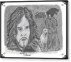 Jon Snow Acrylic Print