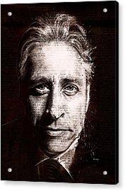 Jon Stewart Acrylic Print by Fay Helfer
