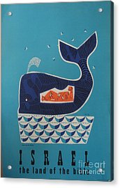 Jonah And The Whale Israel Travel Poster 1954 Acrylic Print
