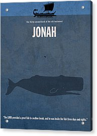 Jonah Books Of The Bible Series Old Testament Minimal Poster Art Number 32 Acrylic Print