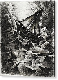 Jonah Acrylic Print by Rachel Christine Nowicki