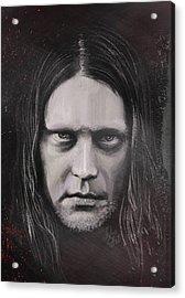 Acrylic Print featuring the drawing Jonas P Renkse Musician From Katatonia Band By Julia Art by Julia Art