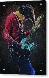 Jonny Greenwood Acrylic Print by Semih Yurdabak