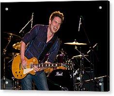 Jonny Lang Rocks His 1958 Les Paul Gibson Guitar Acrylic Print