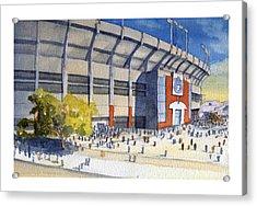 Jordan-hare Stadium Acrylic Print by Bill Whittaker