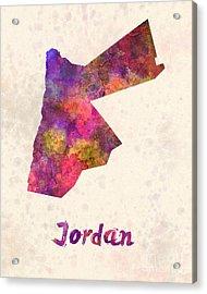 Jordan  In Watercolor Acrylic Print