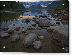 Jordan Pond Afterglow Acrylic Print by Rick Berk