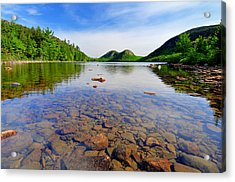 Jordan Pond And The Bubbles Acrylic Print