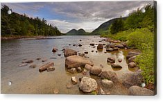 Acrylic Print featuring the photograph Jordan Pond  by Stephen  Vecchiotti