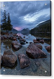 Acrylic Print featuring the photograph Jordan Pond Sunset  by Patrick Downey