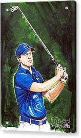 Jordan Spieth 2015 Masters Champion Acrylic Print by Dave Olsen