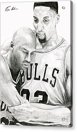 Jordan Will To Win Acrylic Print