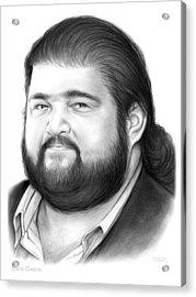 Jorge Garcia Acrylic Print by Greg Joens