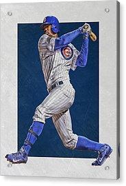 Jorge Soler Chicago Cubs Art Acrylic Print by Joe Hamilton