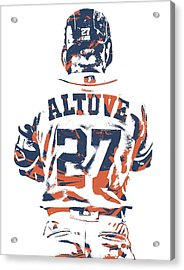 Jose Altuve Houston Astros Pixel Art 10 Acrylic Print