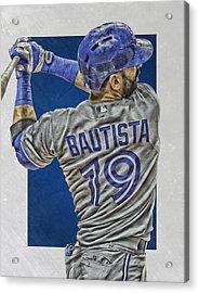 Jose Bautista Toronto Blue Jays Art 2 Acrylic Print by Joe Hamilton
