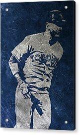 Jose Bautista Toronto Blue Jays Art Acrylic Print by Joe Hamilton