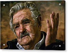 Jose Mujica Acrylic Print