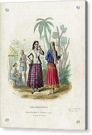 Acrylic Print featuring the drawing Josefa Martines Et Panchita Reyes by Massart