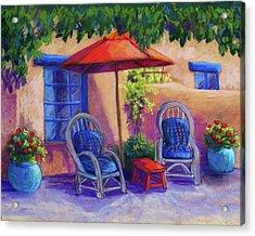 Josefina's Courtyard Acrylic Print by Candy Mayer
