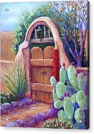 Josefina's Gate Acrylic Print by Candy Mayer