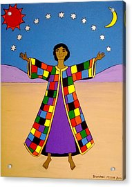 Joseph And His Coat Of Many Colours Acrylic Print by Stephanie Moore
