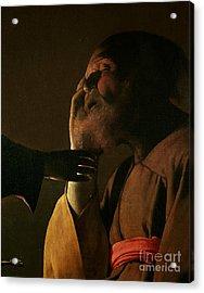 Joseph And The Angel Acrylic Print by Georges de la Tour