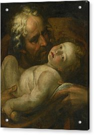 Joseph And The Infant Christ Acrylic Print