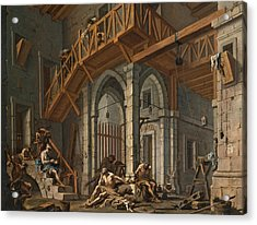 Acrylic Print featuring the painting Joseph Interprets The Dreams Of The Pharaoh's Servants Whilts In Jail by Alessandro Magnasco
