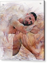 Joseph Acrylic Print by Mark Ashkenazi
