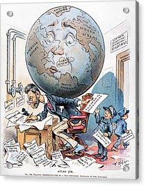 Joseph Pulitzer Cartoon Acrylic Print by Granger