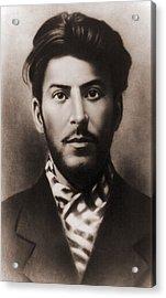 Joseph Stalin 1879-1953, In An Early Acrylic Print by Everett