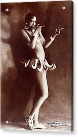 Josephine Baker Lucien Walery   Banana Skirt From The Folies Bergere Production Un Vent De Folie Acrylic Print