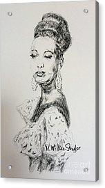 Josephine Acrylic Print by N Willson-Strader