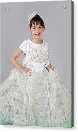 Josette In Dryer Sheet Dress Acrylic Print