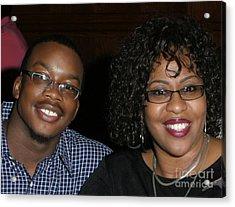 Josh And His Mom Acrylic Print by Angela L Walker