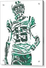 Josh Mccown New York Jets Pixel Art 2 Acrylic Print