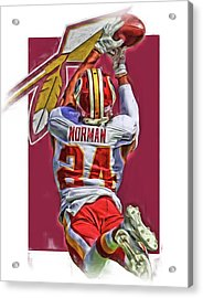 Josh Norman Washington Redskins Oil Art Acrylic Print