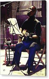Josh White Singing The Blues Acrylic Print by David Lloyd Glover
