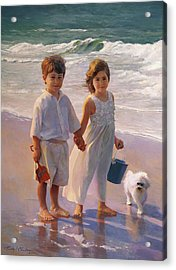 Joshua And Cayla Acrylic Print by Timothy Chambers