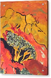 Acrylic Print featuring the painting Joshua Trees In The Negev by Esther Newman-Cohen