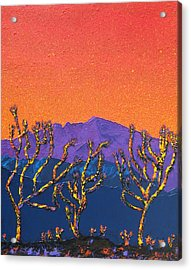 Joshua Trees Acrylic Print by Mayhem Mediums