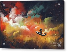 Journey To Outer Space Acrylic Print