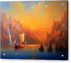 Journey To The Undying Lands Acrylic Print by Joe  Gilronan
