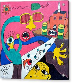 Journey Upon The Path Of Despair Acrylic Print
