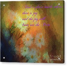 Acrylic Print featuring the mixed media Joy by Jim  Hatch