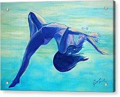 Joy Acrylic Print by Julie Komenda