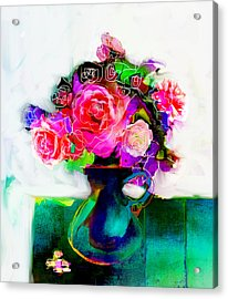 Acrylic Print featuring the painting Joy by Linde Townsend