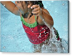 Joy Of Swimming Acrylic Print